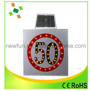 Flashing LED Solar Traffic Sign Accept Customed pictures & photos