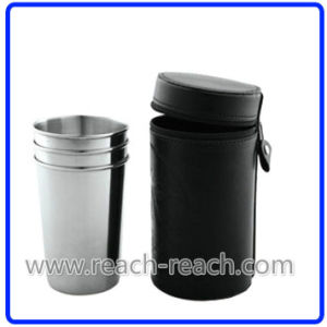 Stainless Steel Cup/Shot Glass Match Hip Flask Sets (R-HF053) pictures & photos