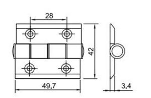 New Distinctive Hinge Hl6040 for Aluminum Door & Window pictures & photos
