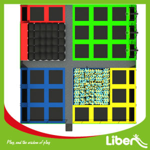 Free Design Large Indoor Trampoline Park with Dodgeball, Basketball and Foam Pit pictures & photos