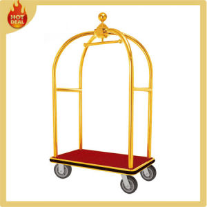 Stainless Steel Hotel Luggage Trolley for Sale pictures & photos