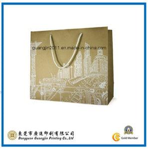 Customized Logo Printing Kraft Paper Shopping Bag (GJ-Bag412) pictures & photos