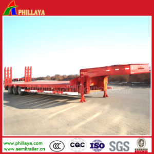 3 Axles Goose-Neck Lowbed Semi Trailer pictures & photos