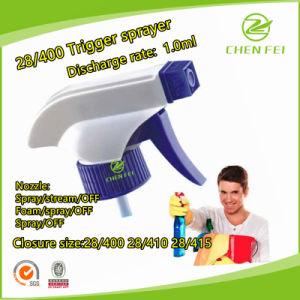 Custom Output 1.0ml White & Blue 28/400 Plastic Trigger Sprayer Pump