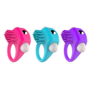 Soft Silicone Powerful Vibrating Cock Ring Adult Sex Toy pictures & photos