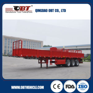 ISO CCC Approved 3 Axles 28t Truck Trailer with Sidewall pictures & photos