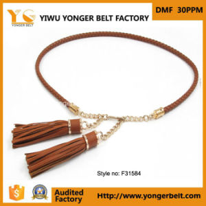 Fashion PU Chain Belt for Lady′s Dresses