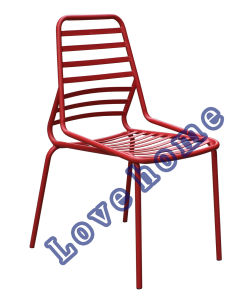 Modern Metal Dining Restaurant Stackable Side Chair pictures & photos