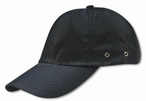 High Quality Black Nylon Sport Cap with Lining pictures & photos