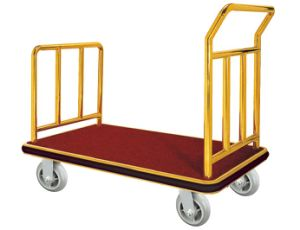 Hotel Gold Luggage Cart pictures & photos