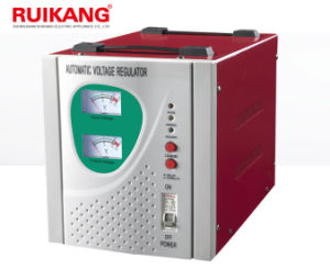 Single Phase AVR 5kVA Voltage Stabilizer Regulator for Home pictures & photos