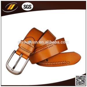 Fashion Men′s Leather Belt with Pin Buckle (HJ3003) pictures & photos