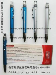 Custom Banner Pen with Touch for Promotion