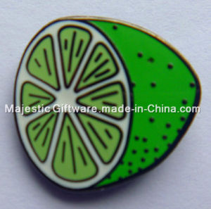 Iron Die Struck Hard Enamel Customized Lemon Badge pictures & photos