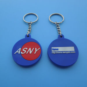 Custom Company Logo PVC Keychain Keyring pictures & photos