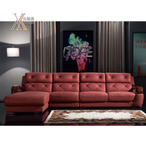 Red Leather Sofa (838)
