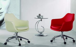 Rotary Fabric Office Meeting Chair with Aluminum Base pictures & photos