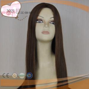 Long Virgin Hair Top Quality Dark Brown Color Silk Top Jewish Sheitel Wig pictures & photos
