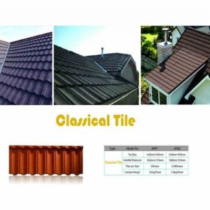 Stone Coated Steel Roof Tile of Various Colors pictures & photos