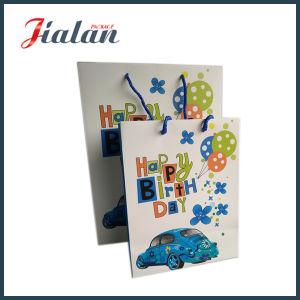 Fashion Blue Car Printed Custom Logo Birthday Paper Gift Bag pictures & photos