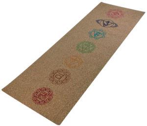 100% Natural Cork Top Layer and Rubber Base Yoga Mat Set pictures & photos
