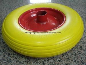 Without Air Flat Free PU Foam Wheel pictures & photos