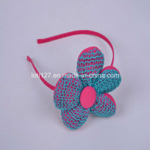 Pink Flowers, Blue Color Woven Styles, Young Girl Style, Fashion Ornaments, Tiaras pictures & photos
