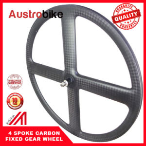Matt Carbon Disc Wheel Carbon Clincher Disc Wheel Road Disk Wheel Single Speed Disk Wheel Carbon Wheel pictures & photos