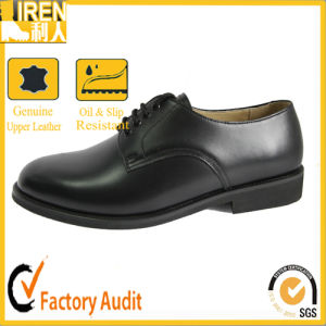 2017 High Quality Black New Fashion Army Footwear Military Police Office Shoes pictures & photos