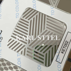 China 304 Stainless Steel Ket002 Etched Sheet for Decoration Materials pictures & photos