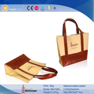 Waterproof Cooler Canvas Wine Bag (6473R1) pictures & photos