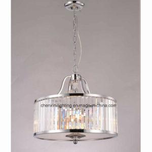 UL Standards Modern Classical Angled Crystal Pendant Light Chrome Color