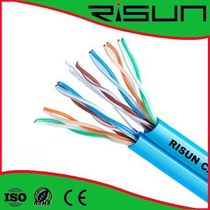 Figure 8 Cable Unshiedled Twisted Pair Bair Copper 24AWG UTP Cat5e Dual Cable pictures & photos