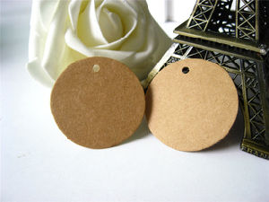 Kraft Leather Patch Two Layered Clothing Kraft Tag pictures & photos