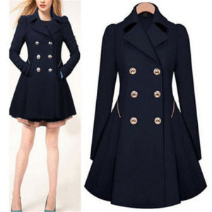 Fashion Double Breasted Long Styleladies Outwear Jacket (50107-1) pictures & photos