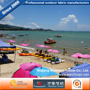 Beach Tent Fabrics 600d DTY Oxford with PU UV Coated pictures & photos