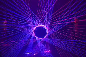 Full Color RGB 4000MW Professional Stage Show Laser Projector pictures & photos
