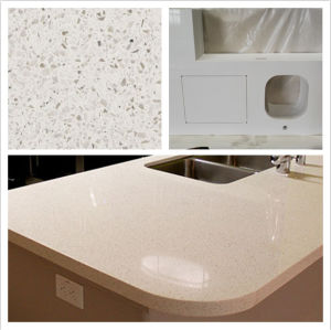 Factory Directly Prefab White Sparkle Quartz Countertop White Quartzite Slab pictures & photos