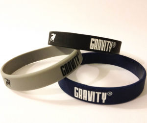 Embossed Logo Silicone Bracelet with Fill Ink pictures & photos