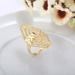 Popular Fashion Gold-Plated Specail Shape Diamond Jewelry Ring in Nickel Free for Women 10263 pictures & photos