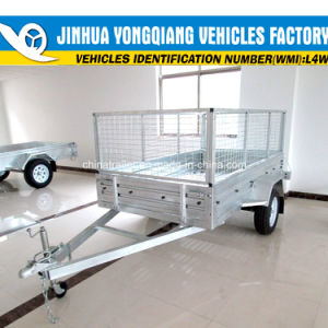 Bolt on Galvanised Box Trailer with Cage pictures & photos