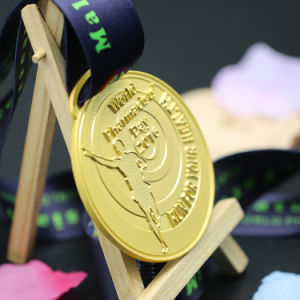 Free Sample Custom Emboss Metal Running Medals in Souvenir Gift pictures & photos