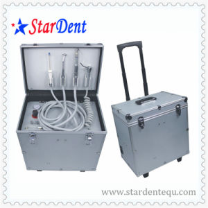Oilless Portable Dental Chair with Tie Rod and Wheel of Dental Equipment Unit pictures & photos