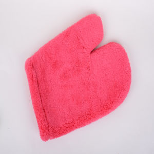 Red, Superfine Fiber Clean Gloves, Rapid Absorption, Drying, Do Not Fade, Not Hair Removal