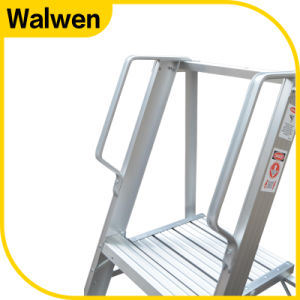 Best Selling 3 Step Folding Aluminum Platform Ladder with Handrail pictures & photos