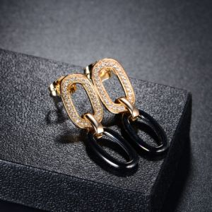 Black 18K Earring Jewellery Costume Drop Earring for Woman pictures & photos