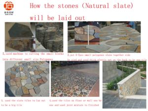 Natural Stone Grey Black Green Rusty Culture Slate Natura Slate pictures & photos