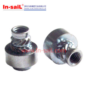 Knurled Threaded Insert Aluminum Nuts pictures & photos