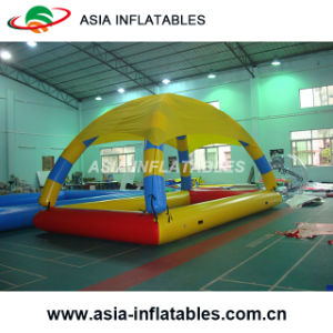 Family Used Intex Inflatable Swimming Pool; Inflatable Swimming Pool with Tent pictures & photos