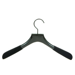 High End Wooden Coat Hanger with Rubberized Coating on Side pictures & photos